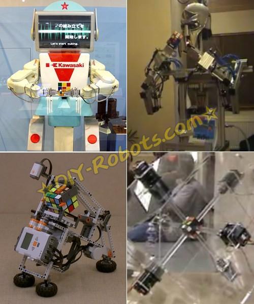 各种神奇的魔方机器人(无聊的人还真不少)