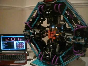 目前最快的魔方机器人