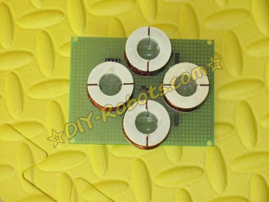 霍尔传感器安装在中心位置