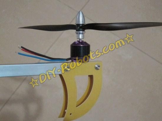 安装的电机和旋翼