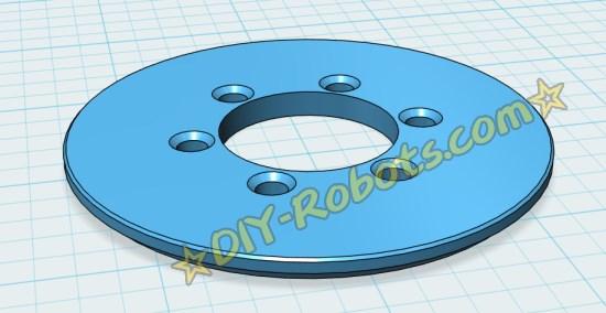 3D打印的齿轮挡边