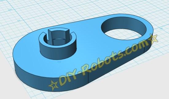 3D打印模型 - 电动滑板支架